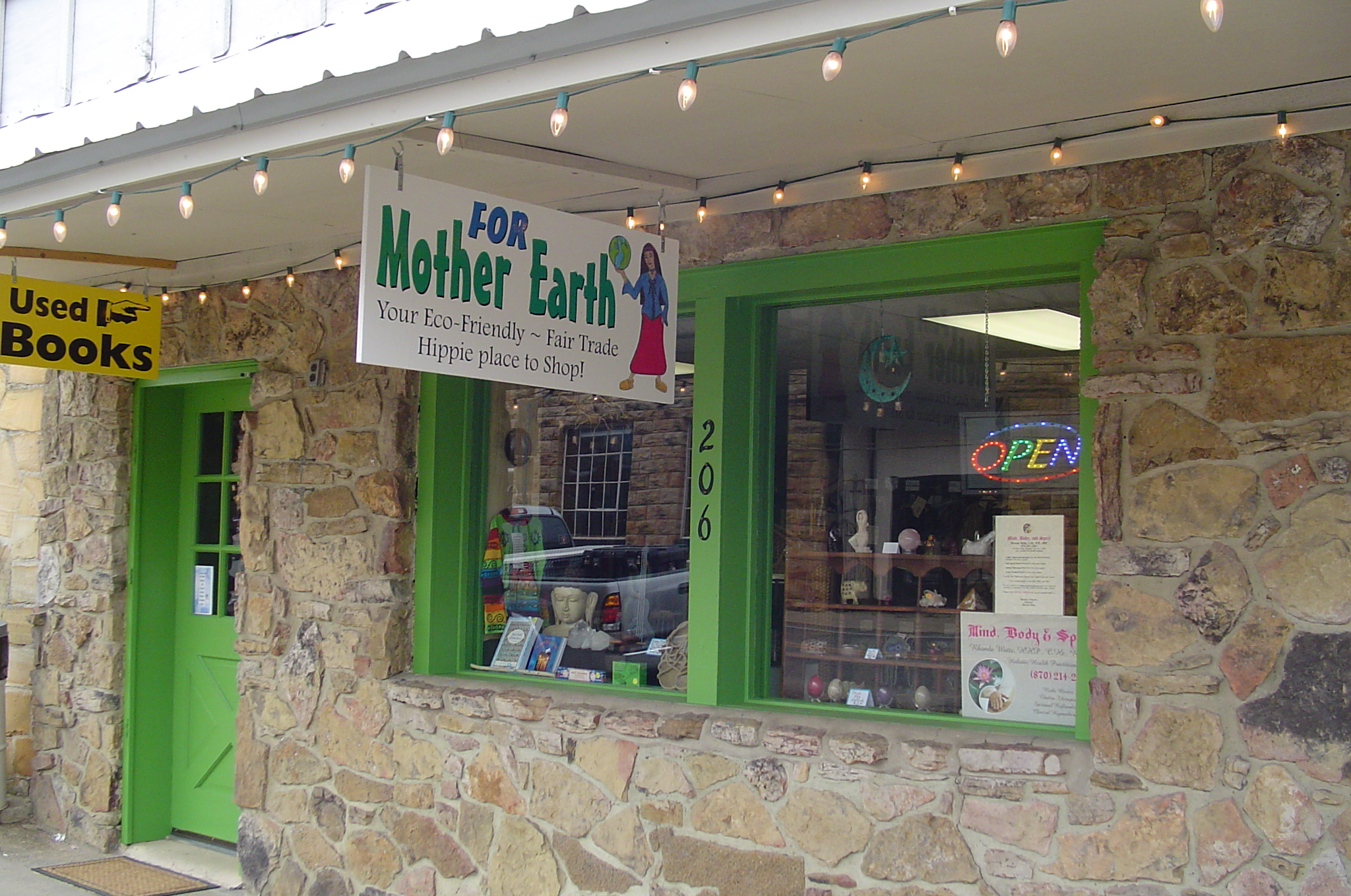 Your eco-friendly fair trade hippie place to shop located in beautiful Mt. View, Arkansas