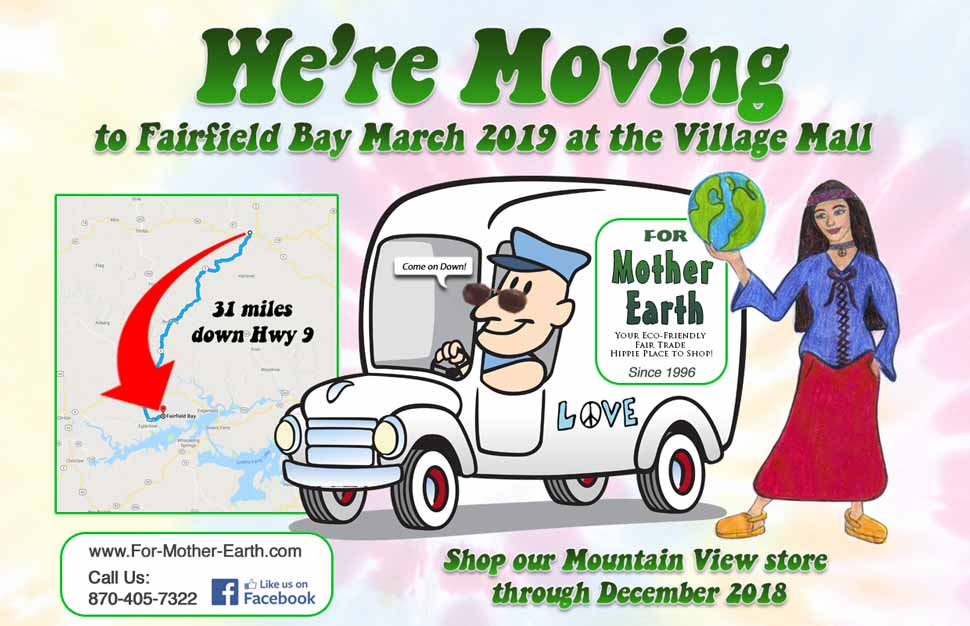 For Mother Earth is Moving to Fairfield Bay!